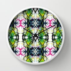 Secret Writing Wall Clock by Tika Calderon - $30.00