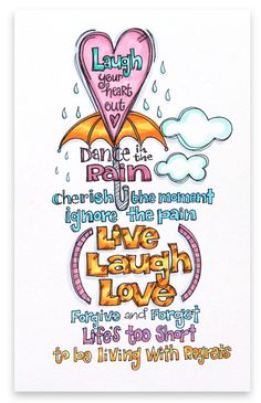 """Live Laugh Love"" by Suzy Plantamura for Creating Keepsakes magazine. Me Quotes, Motivational Quotes, Inspirational Quotes, Qoutes, Motivational Thoughts, Daily Quotes, The Words, Smash Book, Positive Energie"