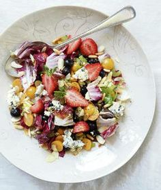 Berry, Blue Cheese and Radicchio Salad