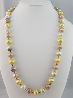 NIB Mark Zunino For Nolan Miller Young at Heart Sparkle Beaded Necklace Retired