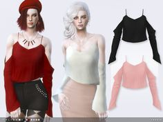 -10 colours  Found in TSR Category 'Sims 4 Female Everyday'