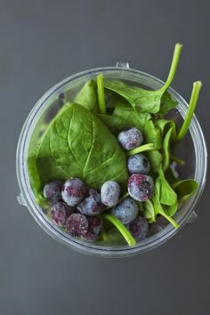 Blueberry spinach superfood smoothie