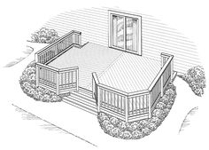 Eplans Deck Plan - Solace in Symmetry from Eplans - House Plan Code HWEPL74906