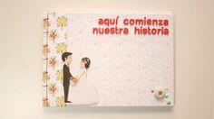 Cómo Hacer un Libro de Firmas Boda FÁCIL | ✎ Tutorial libro de firmas pa...
