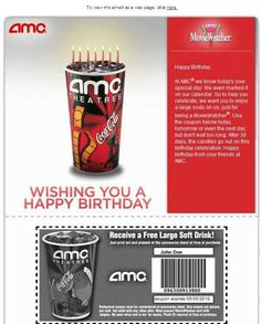 AMC #BirthdayEmail