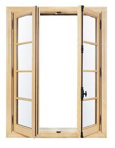 french inswing wood window