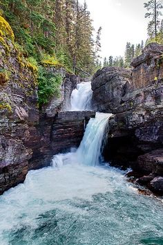 St Mary Falls Glacier National Park, Montana I've already been here, but would love to see it again.