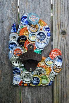 Michigan Bottle Cap Wall Mount Bottle Opener..picture for idea...
