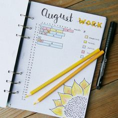 My work time tracker for August. I'm trying to track how much time I spend on different tasks at work!  #bulletjournal #bujo #filofax #worktracker #planner