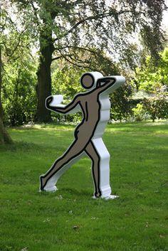 Julian Opie's early work was dismissed by the Guardian's Jonathan Jones in 2004. In 2015, the same critic hailed Opie as a genius. Human Body Art, Chalk Art, Public Art, Figurative Art, Installation Art, Love Art, Sculpture Art, Design Art, Shakira