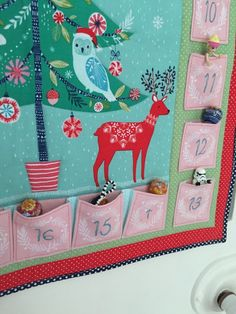 How To Make our 2015 Dashwood Studio Winter Wonderland Advent Calendar - a fabric calendar you can reuse year after year and fill with your own treats! Fabric Advent Calendar, Patch, Christmas Inspiration, Handmade Art, Reuse, Winter Wonderland, Xmas, Kids Rugs, Crafty