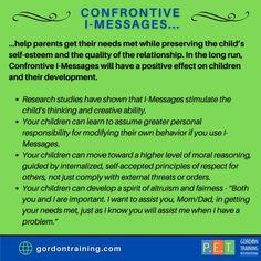 #imessages #communication #gordonmodel #gordontraining Respect Others, Research Studies, Training Programs, How To Run Longer, Self Esteem, Best Quotes, Behavior, No Response, Parenting
