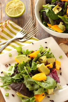 Mango Avocado Salad w/Forbidden Rice|Craving Something Healthy