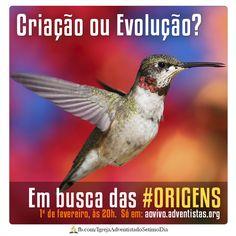 """Participe do programa """"Em busca das #Origens"""". 1º/Fev às 20h, só em: aovivo.adventistas.org"""
