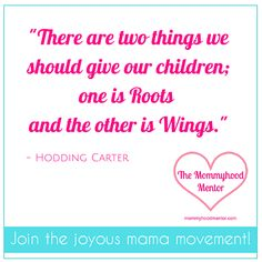 Parenting inspiration of the day -- http://mommyhoodmentor.com/
