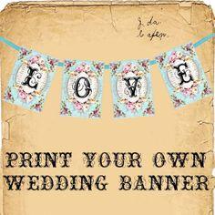 Free Printable Valentine/Wedding Banner
