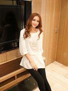 Korean Fashion Short Sleeve Chiffon Shirt