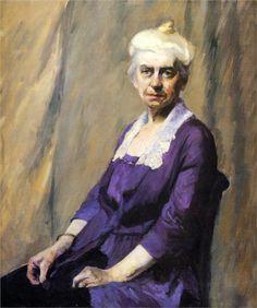 Edward Hopper - Elizabeth Griffiths Smith Hopper, The Artist's Mother, 1916 American Realism, American Artists, Manet, Edward Hopper Paintings, Ashcan School, Statues, Smart Art, Art Database, Portraits