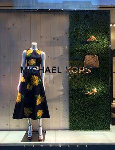 Facing each other on Madison Avenue between Steet and Street are J. Mendel and Michael Kors . Fashion Window Display, Display Window, Retail Windows, Shop Windows, Fashion Showroom, Visual Merchandising Displays, Madison Avenue, Pop Up Shops, Window Design