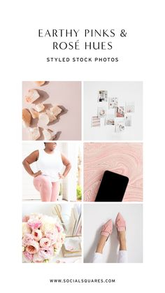 Blush feminine styled stock photography for female brands. Featuring the best images for your marketing and social media with blush, rose quartz and beige tones.   #socialsquares #styledstock #styledstockphotos #branding #blogging Dusty Rose Color, Pink Color, Pastel Pink, Blush Pink, Rose Quartz Color, Stock Imagery, Blog Images, Build Your Brand, Color Inspiration