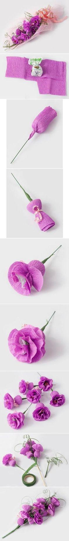 Süßigkeiten in Blumen verwandeln
