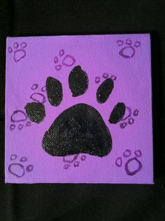Small Paw Print - Acrylic/Watercolor by Lauren Tornetta