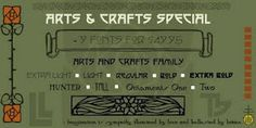 Arts & Crafts fonts