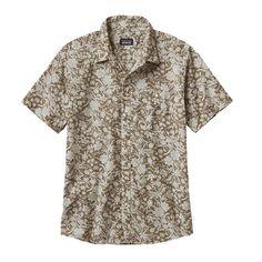 Patagonia Men's Go To Shirt - Free Lei: Ash Tan/Birch White