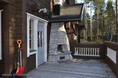 A loghouse in Lapland