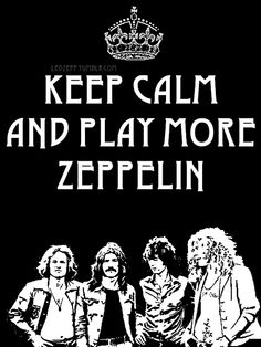 I'm actually enjoying Led Zeppelin now more than I did back then.