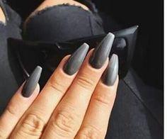 #nails #graynails