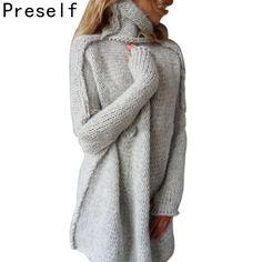 BYWX Women Irregular Caftan Poncho Long Sleeve Pullover Hoodie Sweat Shirt