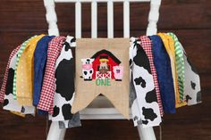 BARNYARD FARMER farm animals first birthday by PippaStitchShop
