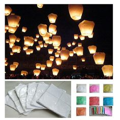 70th birthday Wishing lanterns