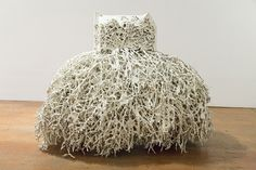 porcelain paper clay house / root sculpture