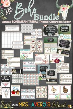 Your Boho themed classroom will be the talk of the school with this editable Bohemian classroom decor bundle!  The Boho Bundle is packed full of your back to school essentials for classroom management and to keep you organized all year long.  Designed with gorgeous watercolor clipart and shabby chic shiplap backgrounds, I guarantee you won't be disappointed.  Click here to see what other teachers have to say about this design on a dime classroom decor bundle!