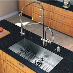 Streamline your Kitchen Design with the Clean Look of Vigo's All In One 32-Inch Undermount Stainless Steel Kitchen Sink And Chrome Faucet Set   | KitchenSource.com $511 #kitchensource #pinterest #followerfind