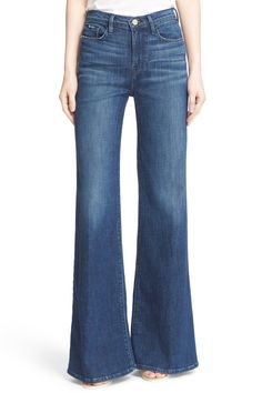 High Rise Wide Leg Flare Jeans (Rockaway) by Frame Denim on @nordstrom_rack