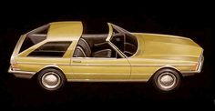 http://chicerman.com  carsthatnevermadeit:  Mercedes Benz concept drawing from 1973 based on the R107 SL with a shooting break rear section and removable roof panel  #cars