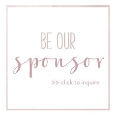be our sponsor