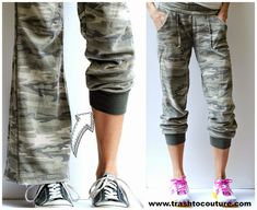DIY Refashioned Track Pants