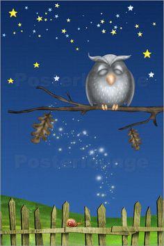 Poster / Leinwandbild Gute Nacht I - M.. Tenbergen