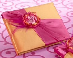 **My Guest Book**Hot Pink & Orange Guest Book. Great Wedding Accessory!  www.ceceliasbestwishes.com