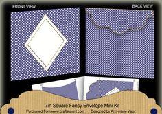 DBlue Dotty Diamond 7x7inch Easy Envelope Mini Kit on Craftsuprint - Add To Basket!
