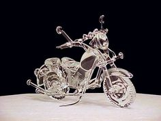 Glass Motorcycle Cake Topper Wedding Toppers cakepins.com