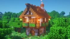 Minecraft: How to Build a Medieval Starter House YouTube in 2020 Cute minecraft houses Easy minecraft houses Minecraft architecture