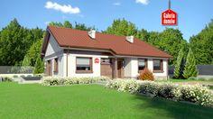 Dom przy Przyjemnej 14 bis. Gotowy projekt domu parterowego. Wykonany w technologii tradycyjnej murowanej, z więźbą o konstrukcji drewnianej. W skład programu użytkowego wchodzą cztery pokoje i dwie łazienki.