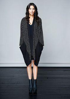 Kimono style summer Coat Organic cotton & bamboo dots by KOMANA