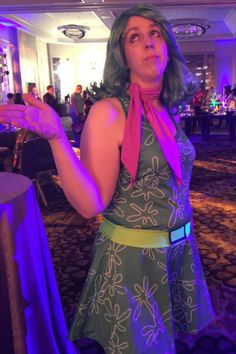 Inside Out Disgust Costume at the Type A Conference Not So Scary Halloween Party…