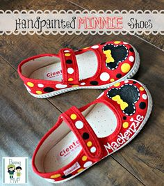 The shoes are painted with non-toxic acrylic paints then sealed with a water-based non-toxic sealant.